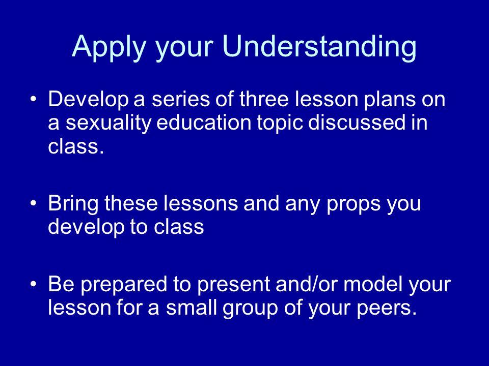 Apply your Understanding