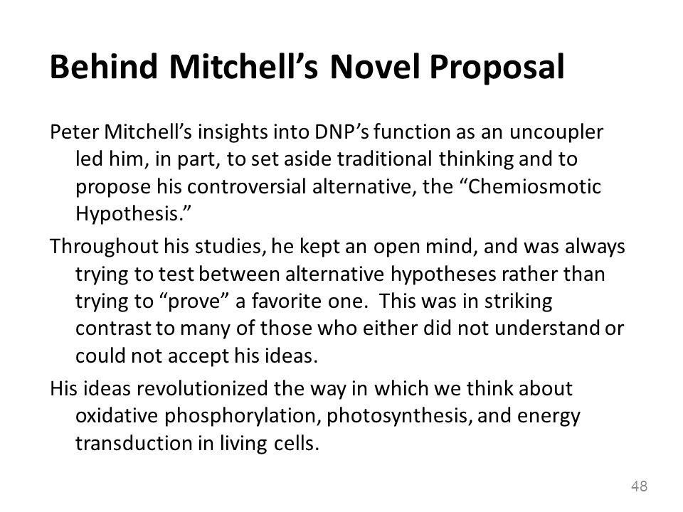 Behind Mitchell's Novel Proposal