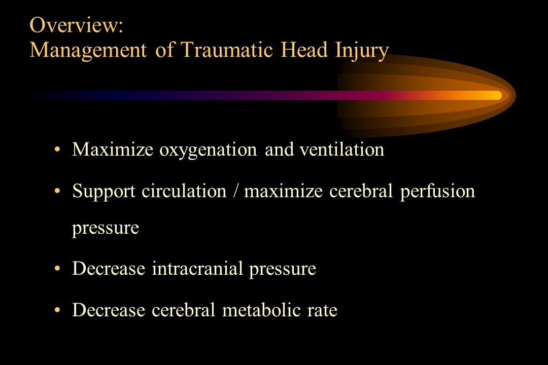 Overview: Management of Traumatic Head Injury