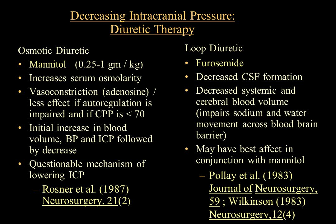 Decreasing Intracranial Pressure: Diuretic Therapy