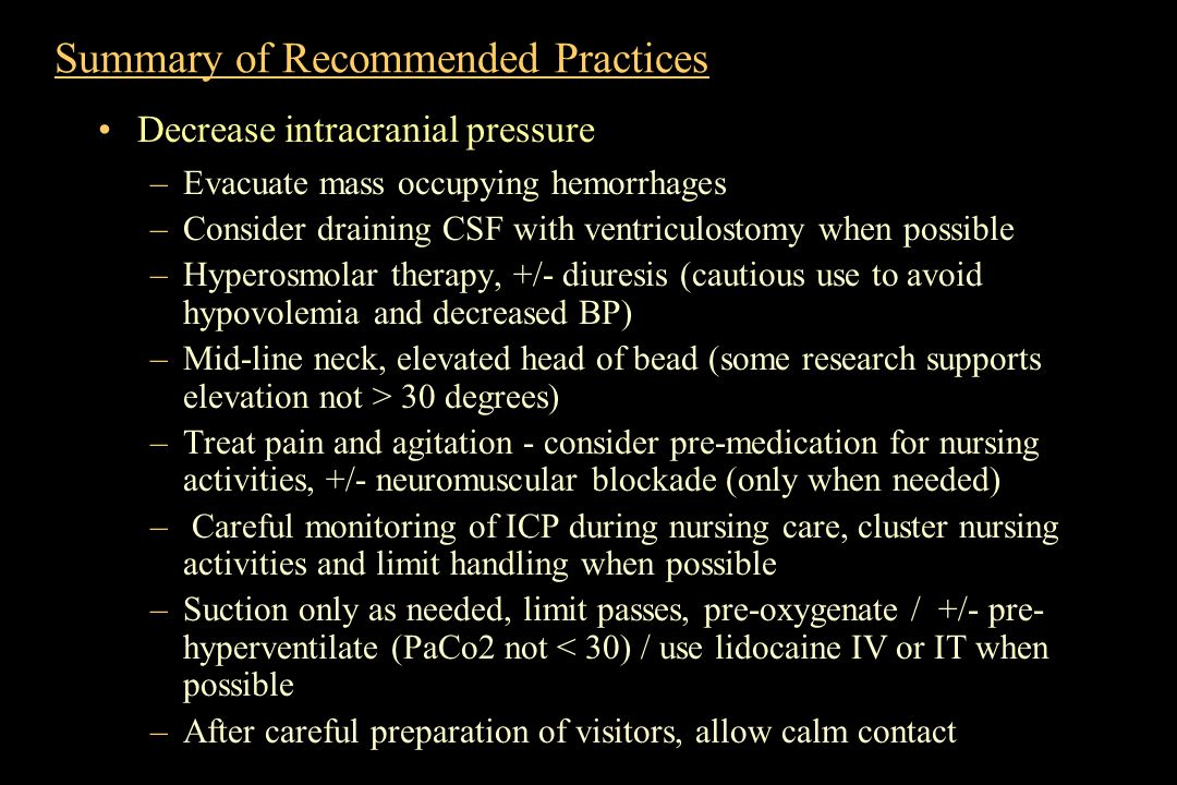 Summary of Recommended Practices