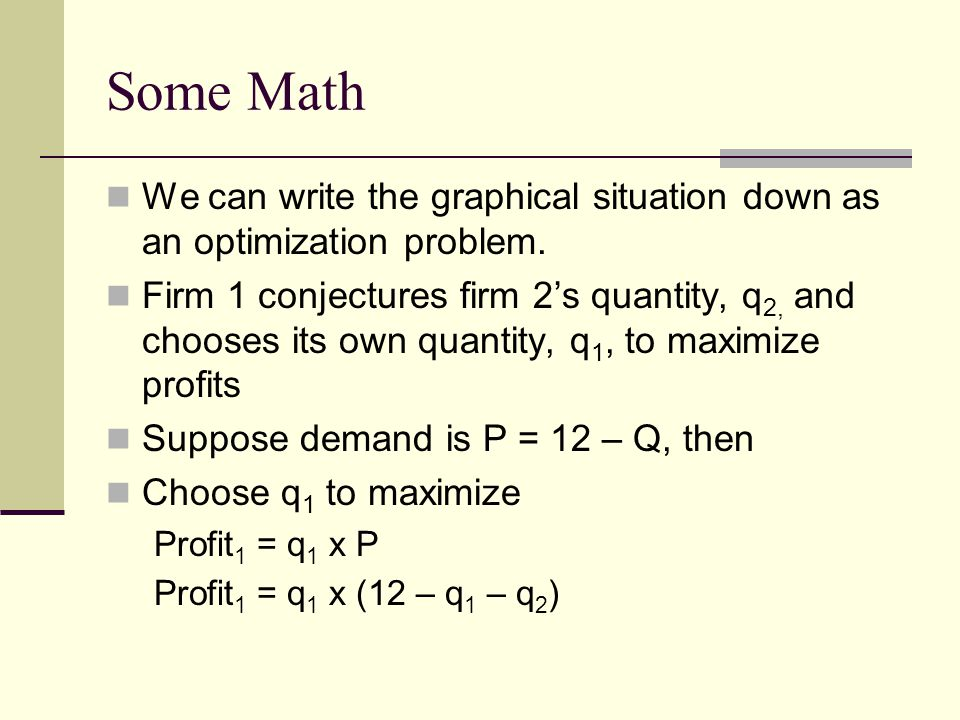 Some Math We can write the graphical situation down as an optimization problem.