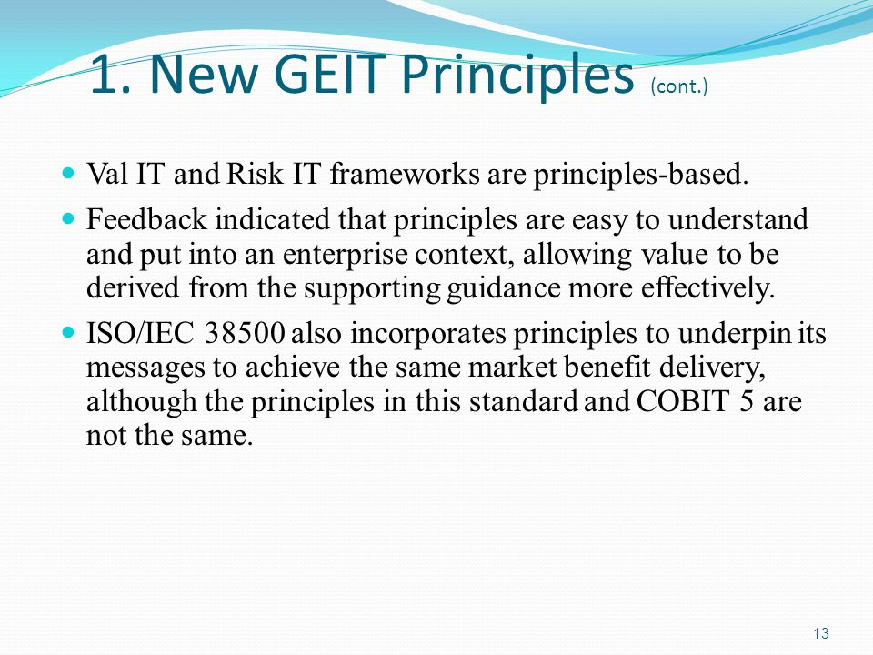 1. New GEIT Principles (cont.)