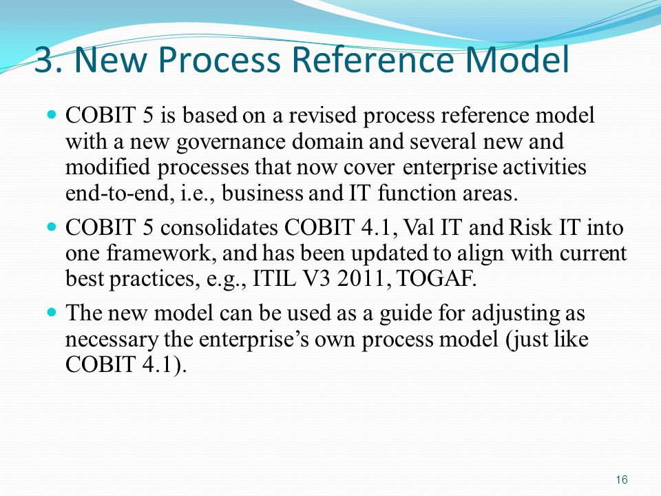 3. New Process Reference Model
