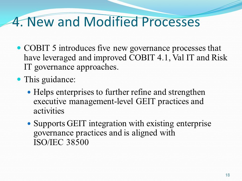 4. New and Modified Processes