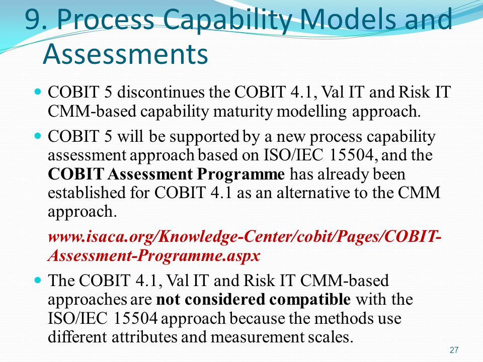 9. Process Capability Models and Assessments