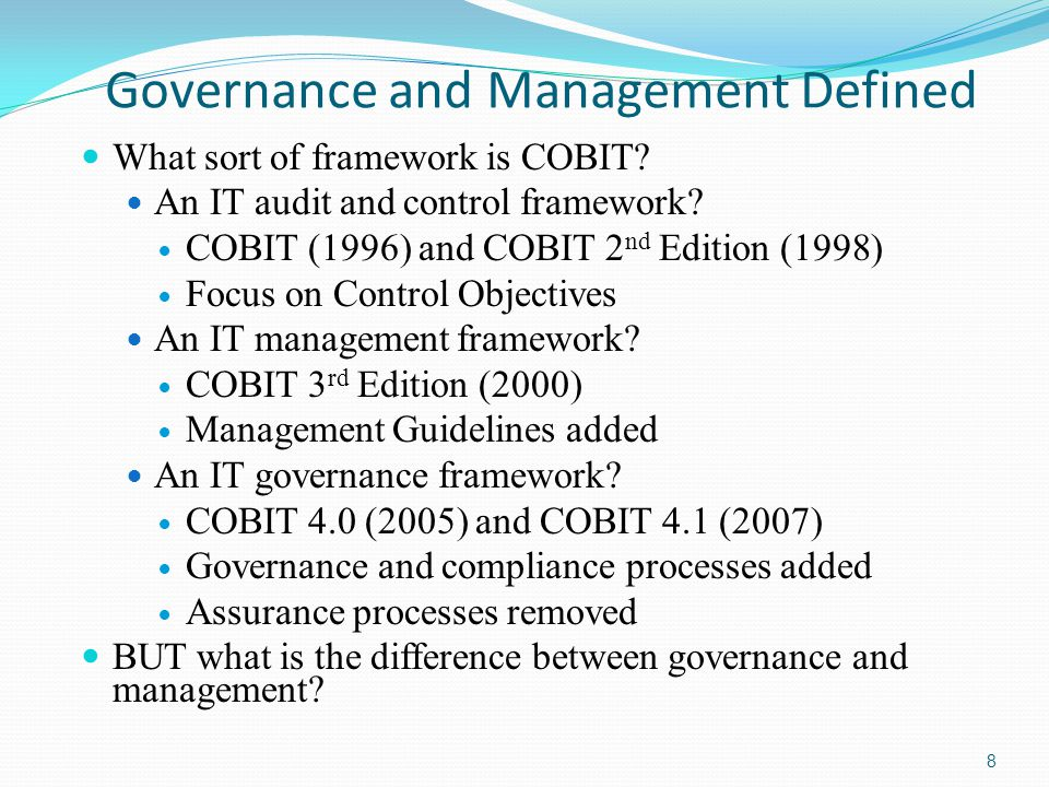 Governance and Management Defined