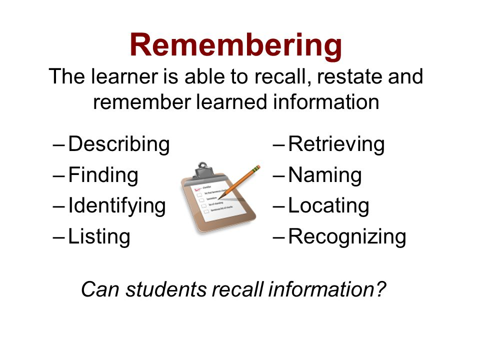 Can students recall information