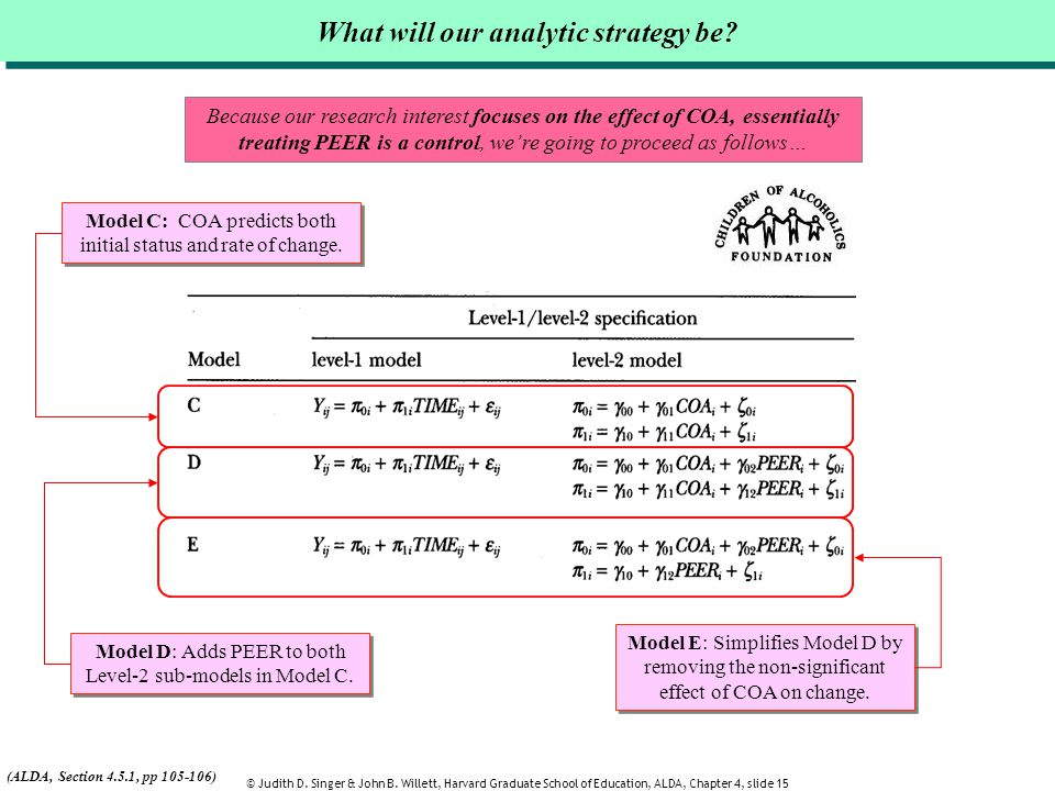 What will our analytic strategy be