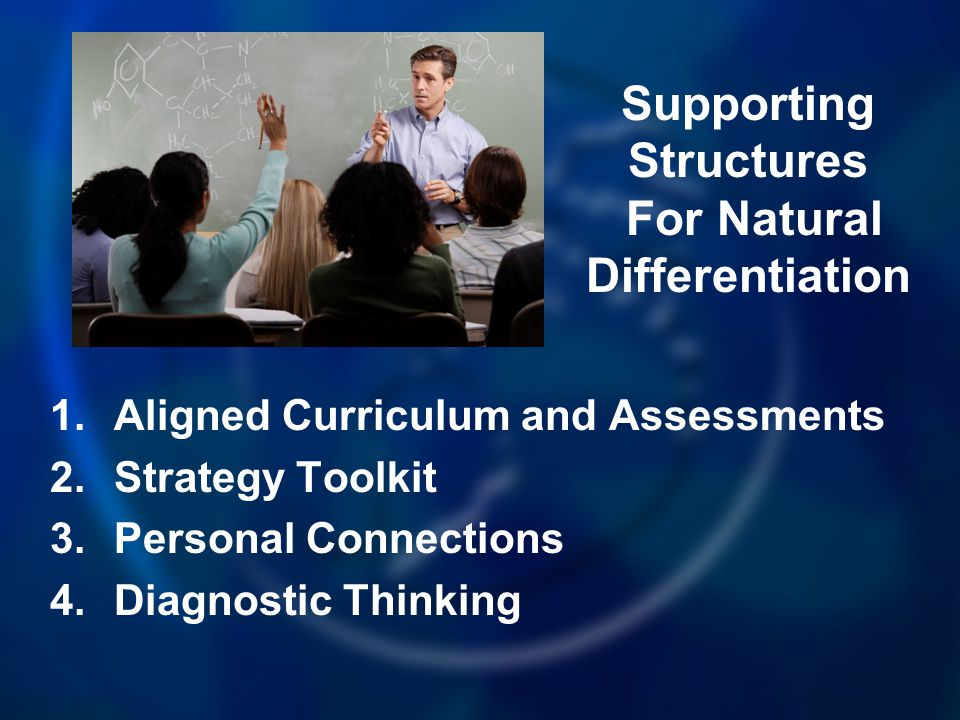 Supporting Structures For Natural Differentiation