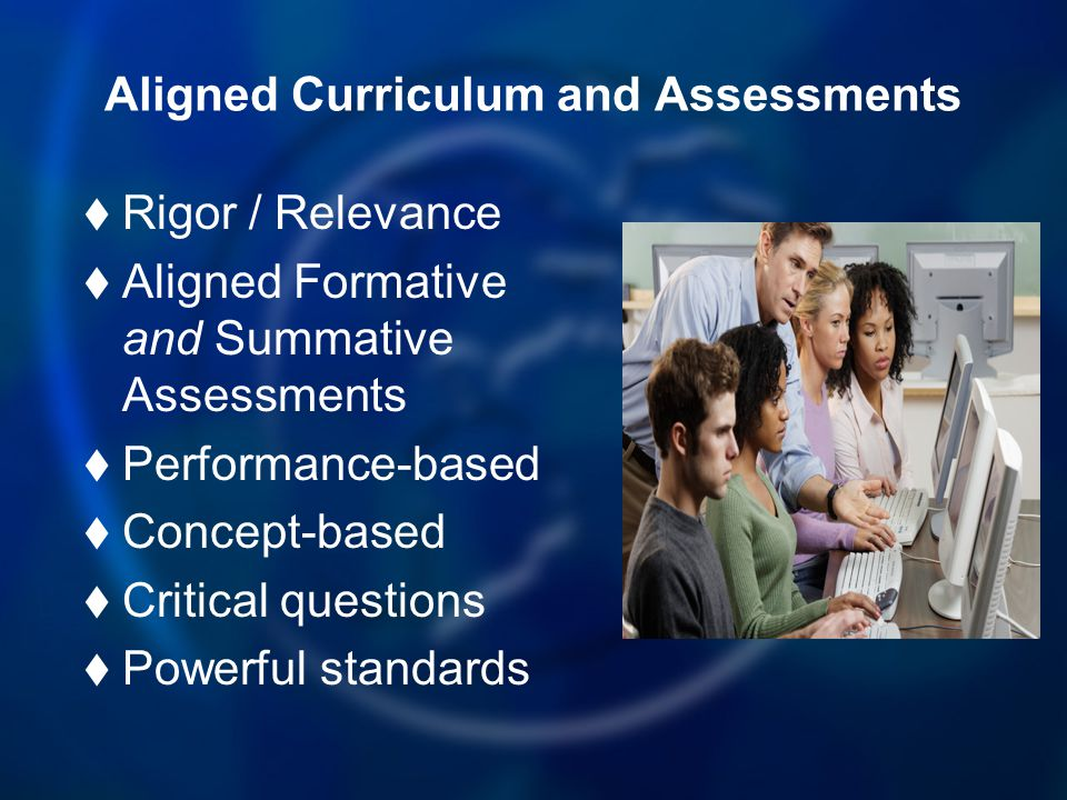 Aligned Curriculum and Assessments