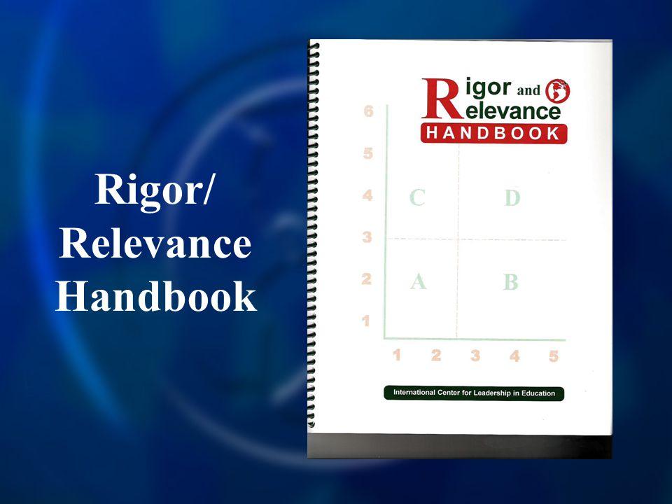 Rigor/ Relevance Handbook