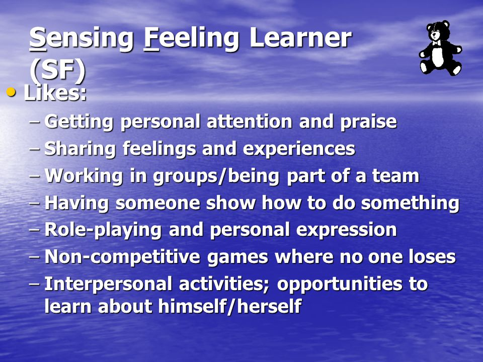 Sensing Feeling Learner (SF)