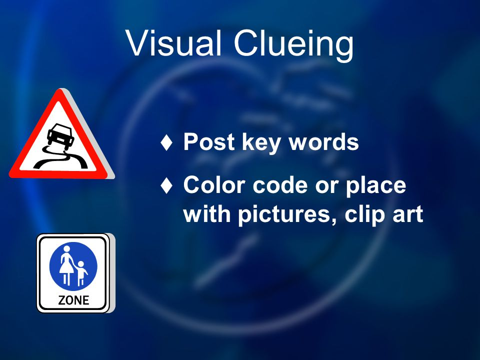 Visual Clueing Post key words