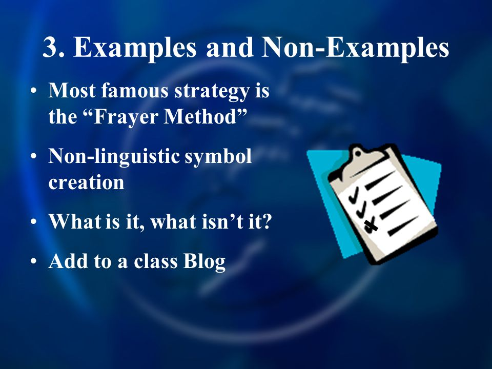 3. Examples and Non-Examples