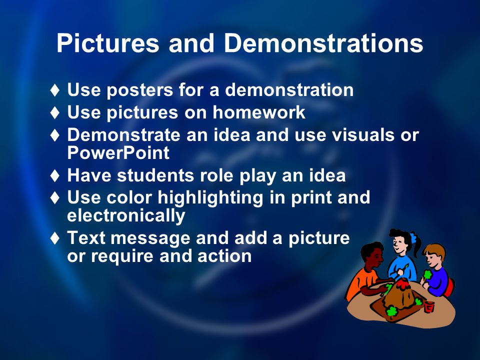 Pictures and Demonstrations