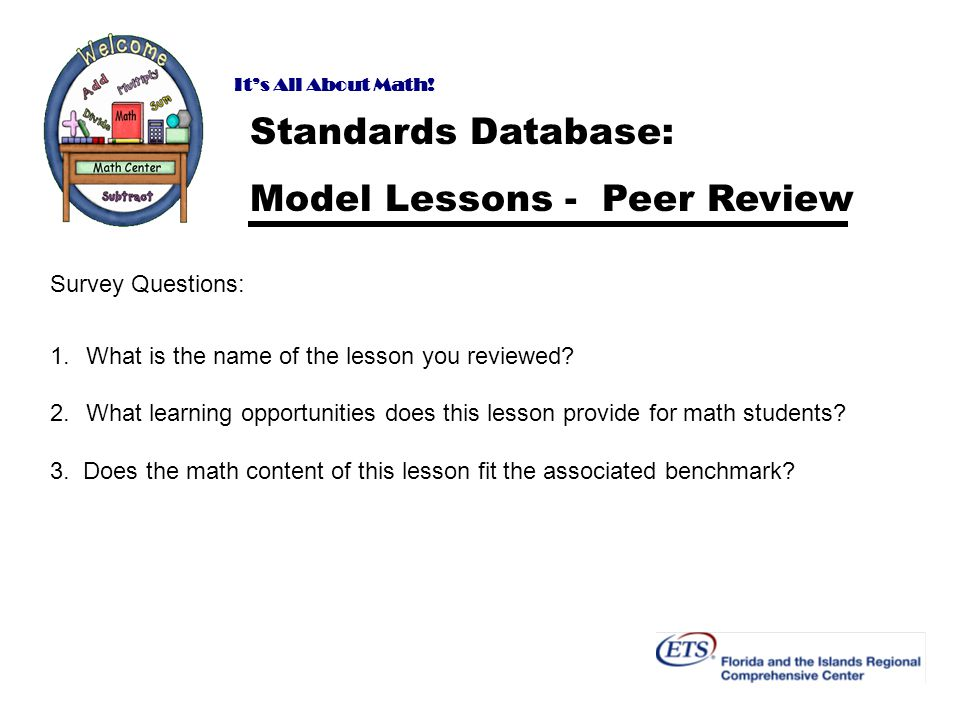 Model Lessons - Peer Review