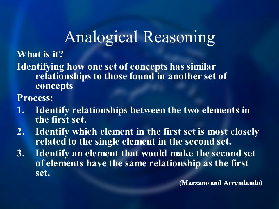 Analogical Reasoning What is it