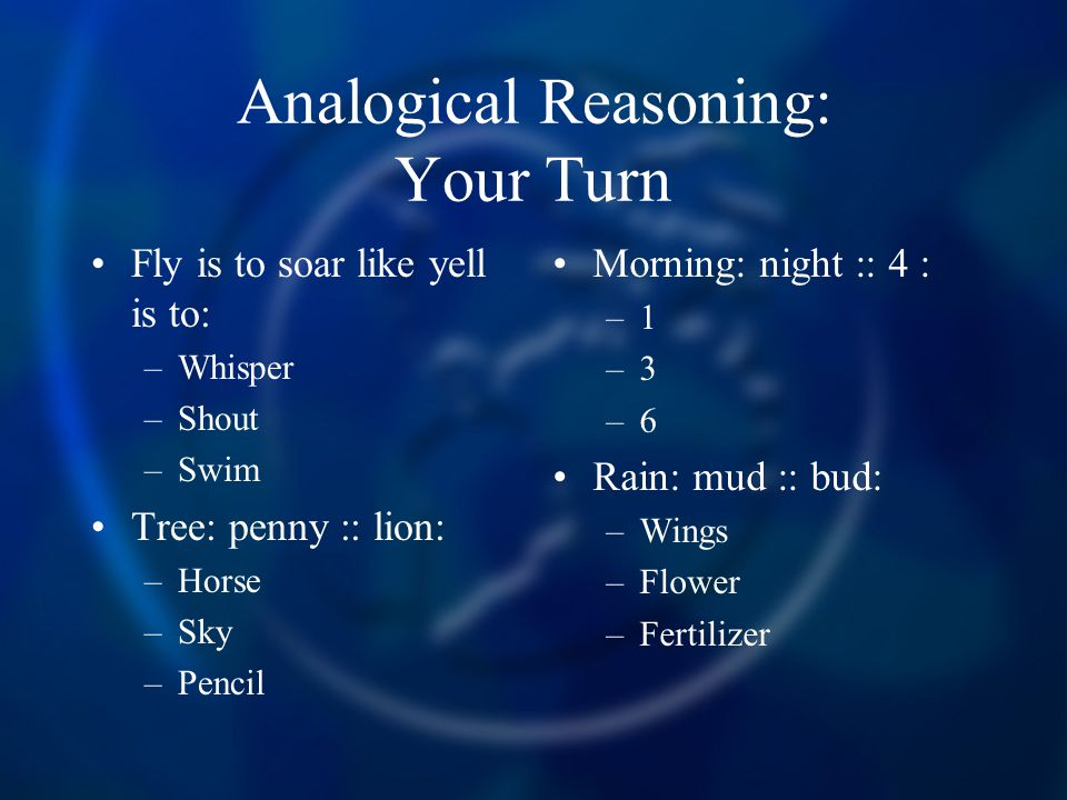 Analogical Reasoning: Your Turn