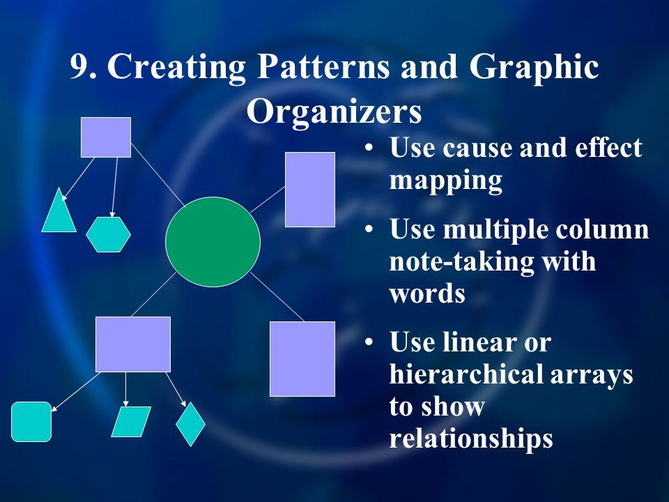9. Creating Patterns and Graphic Organizers