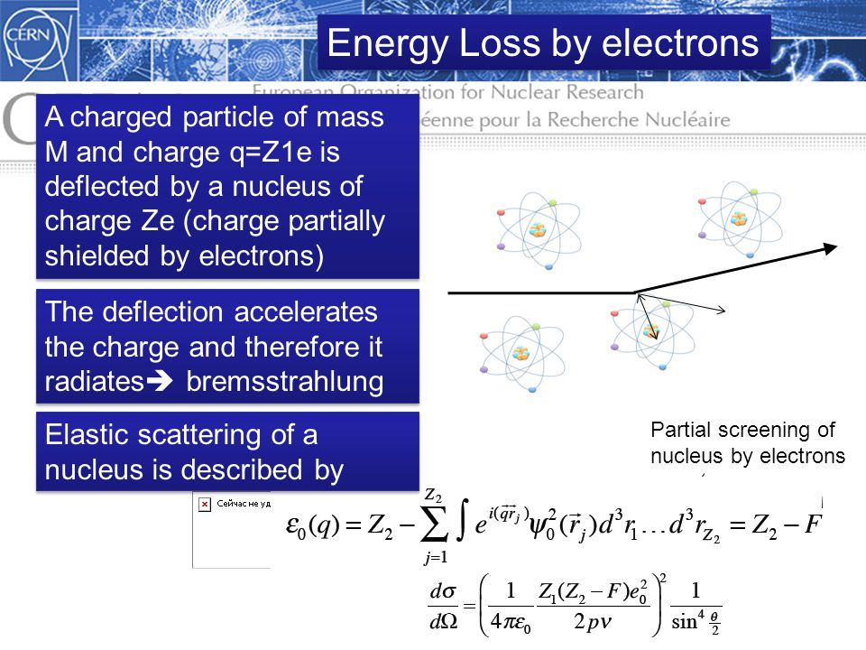 Energy Loss by electrons