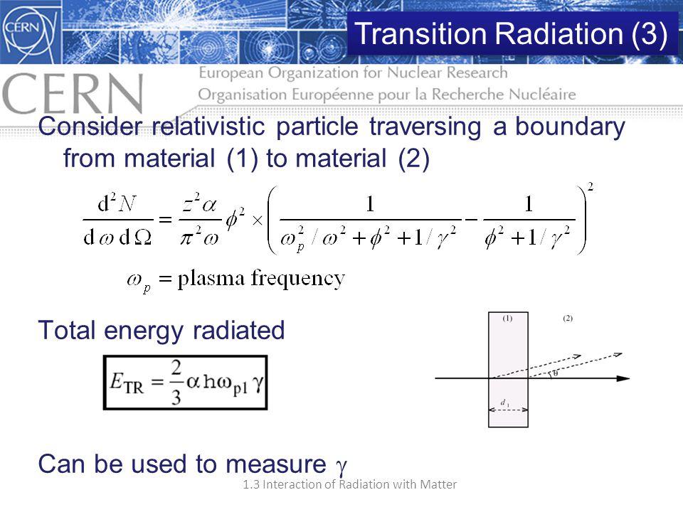 Transition Radiation (3)
