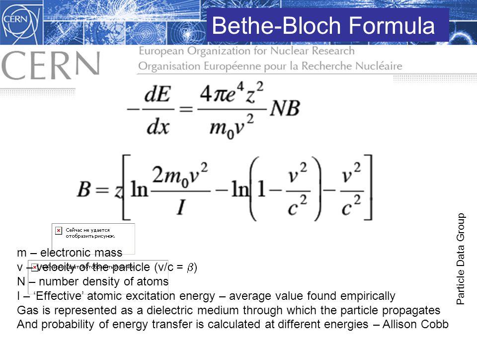 Bethe-Bloch Formula m – electronic mass