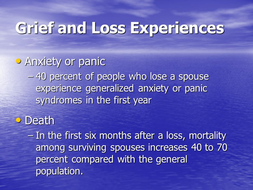 Grief and Loss Experiences