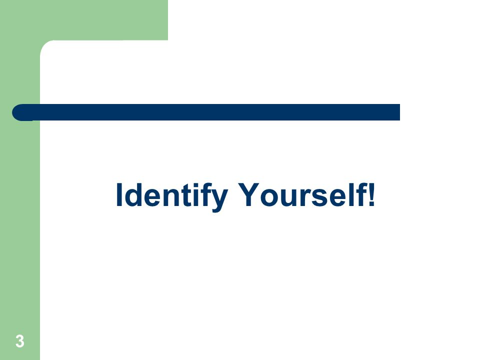 Identify Yourself! Institute for Community Inclusion, UMass Boston