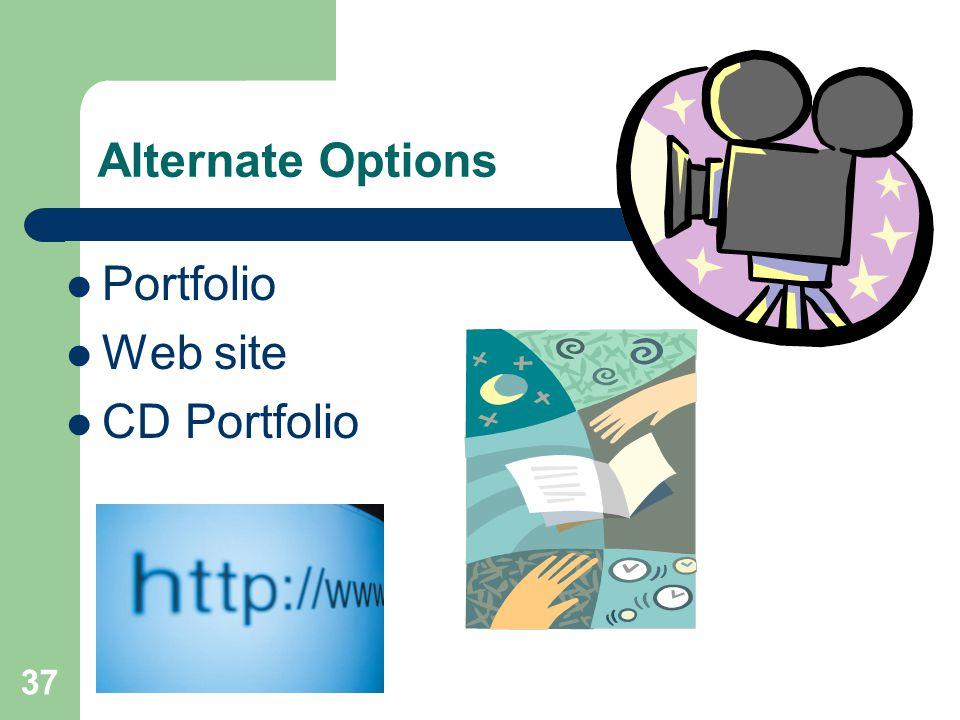 Alternate Options Portfolio Web site CD Portfolio