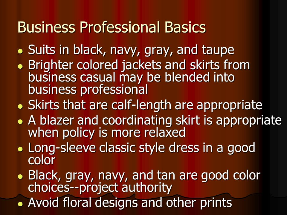 Business Professional Basics