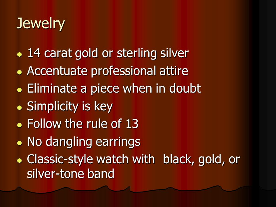 Jewelry 14 carat gold or sterling silver