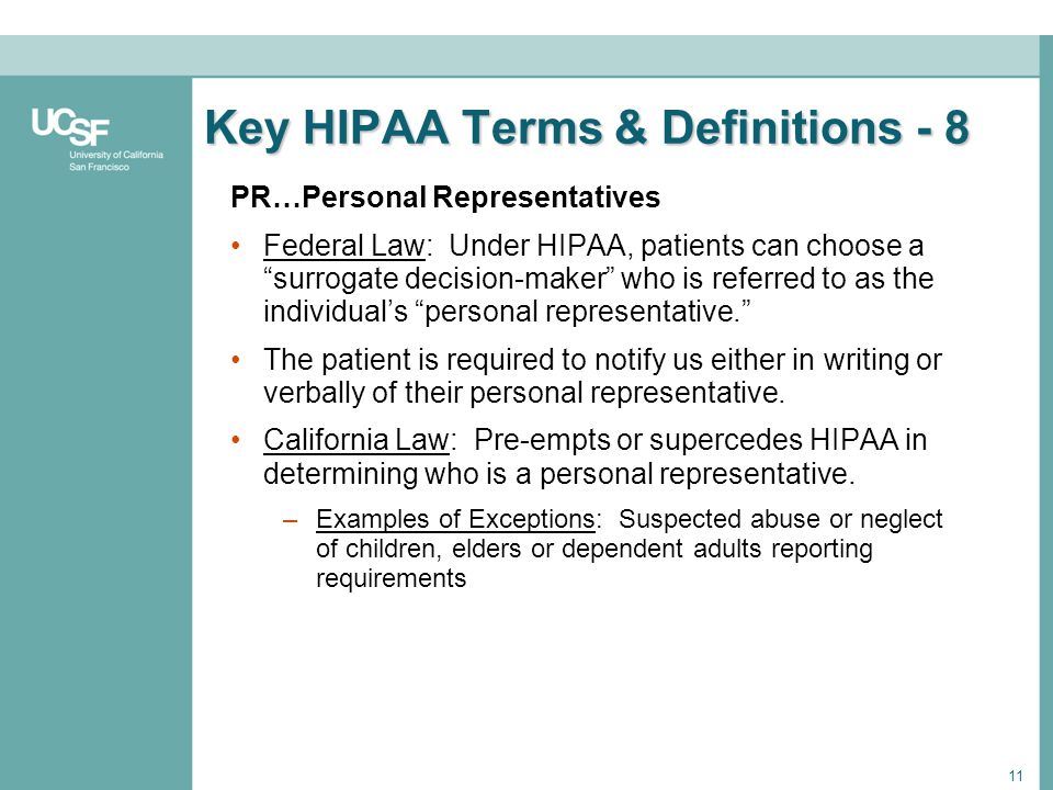 Key HIPAA Terms & Definitions - 8