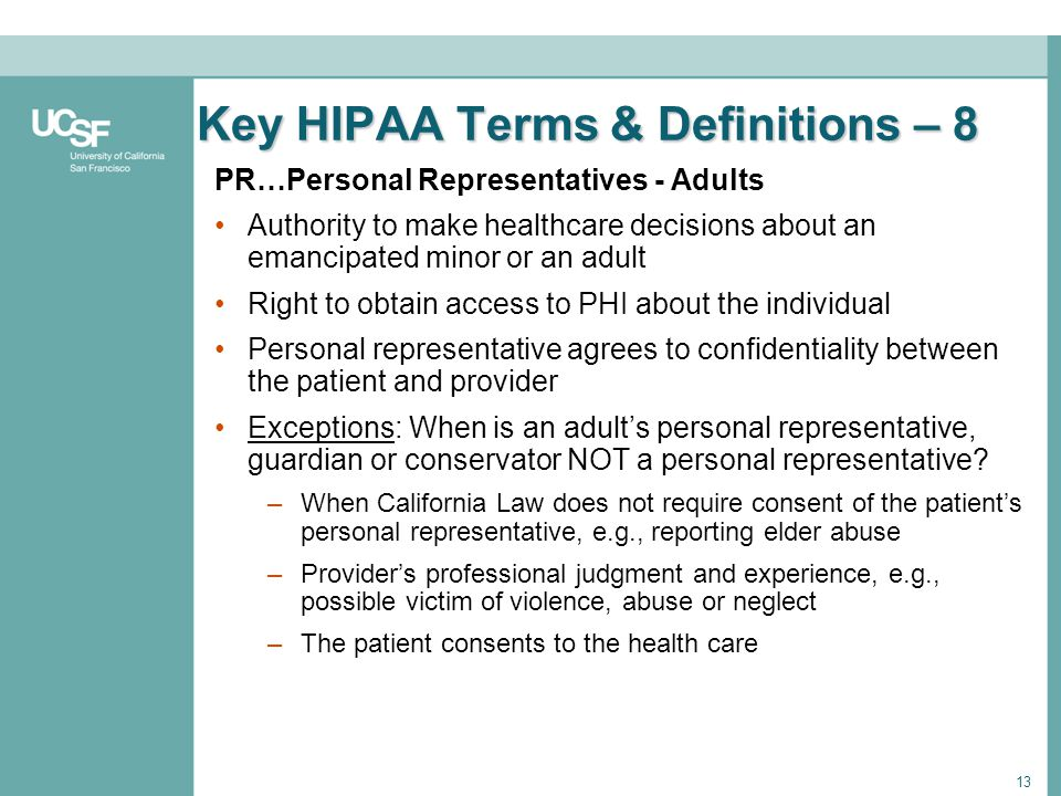 Key HIPAA Terms & Definitions – 8