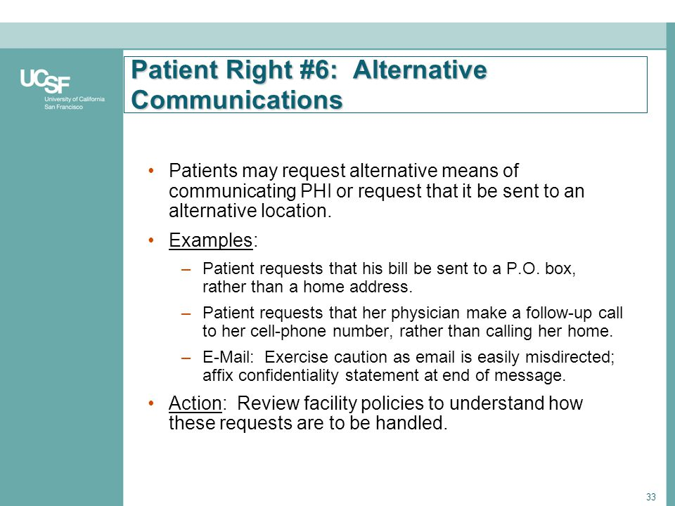 Patient Right #6: Alternative Communications
