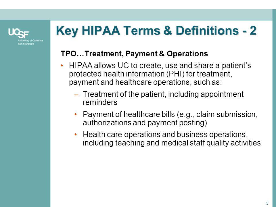 Key HIPAA Terms & Definitions - 2