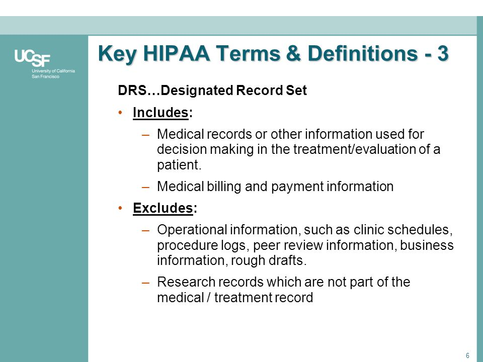 Key HIPAA Terms & Definitions - 3