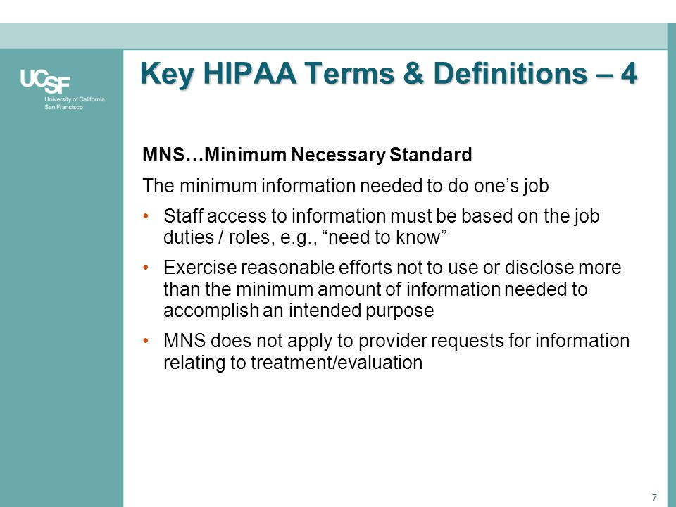Key HIPAA Terms & Definitions – 4