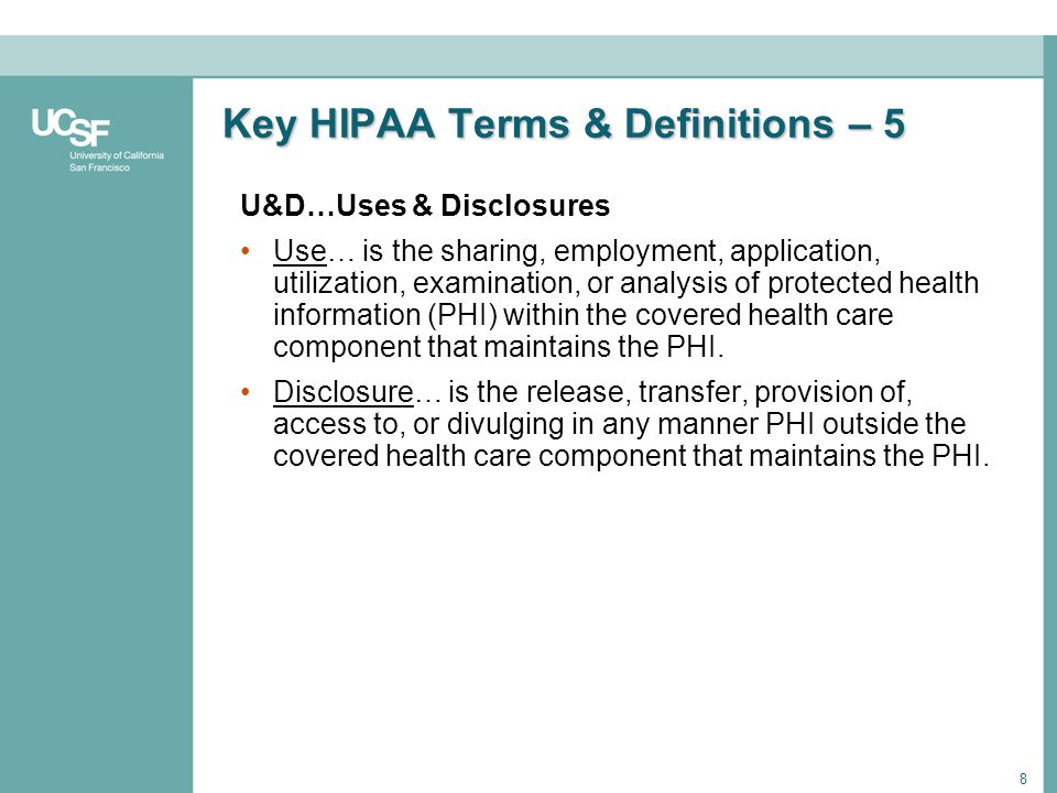 Key HIPAA Terms & Definitions – 5