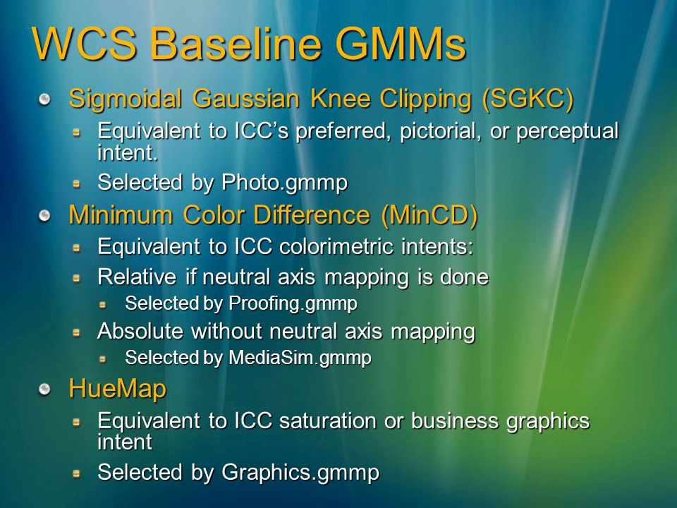 WCS Baseline GMMs Sigmoidal Gaussian Knee Clipping (SGKC)