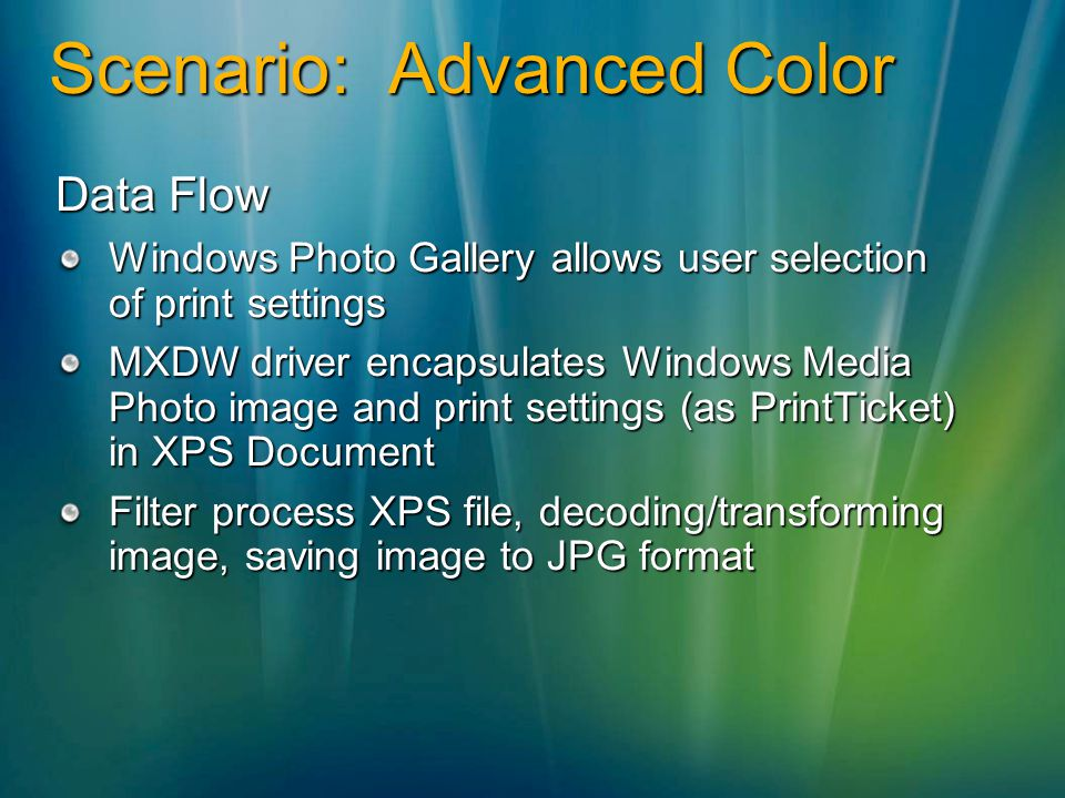 Scenario: Advanced Color