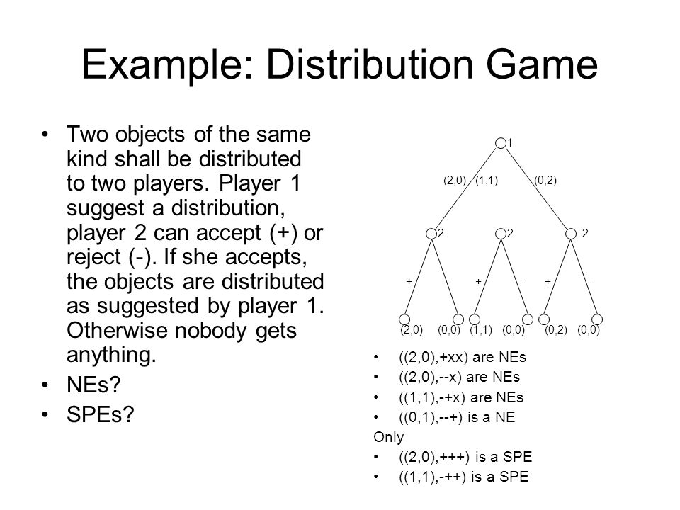 Example: Distribution Game