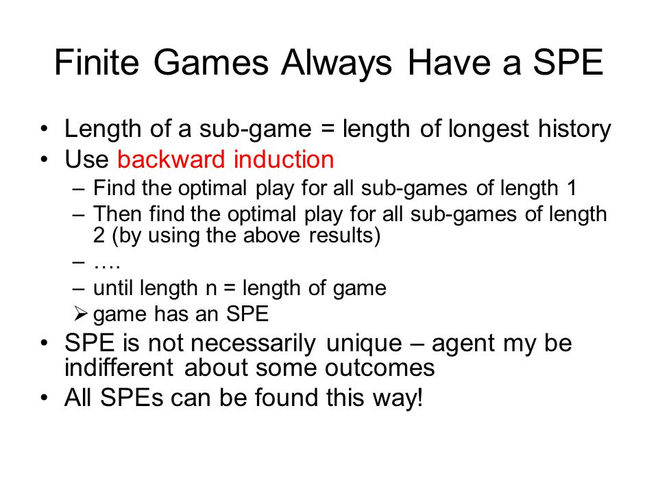Finite Games Always Have a SPE