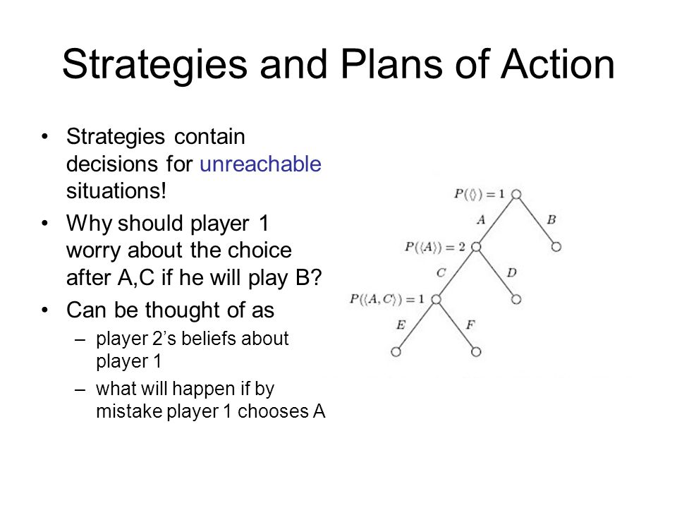 Strategies and Plans of Action