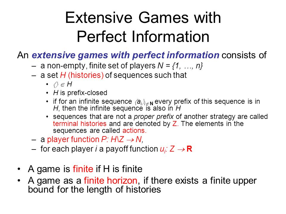 Extensive Games with Perfect Information