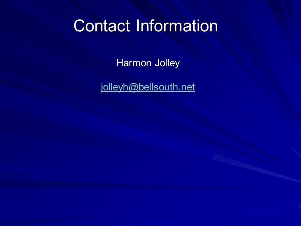 Harmon Jolley jolleyh@bellsouth.net