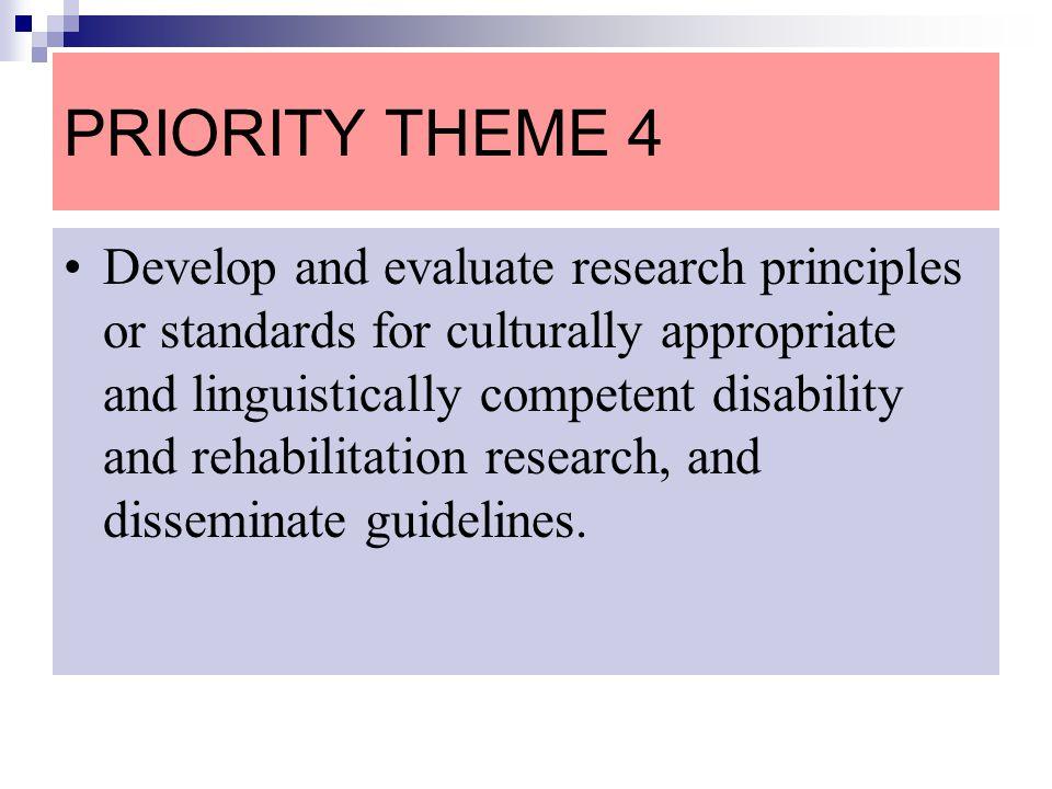 PRIORITY THEME 4