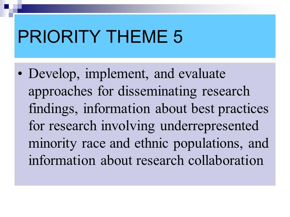 PRIORITY THEME 5