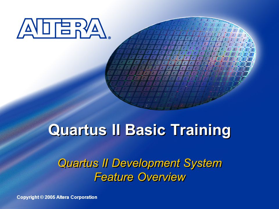 Quartus II Basic Training
