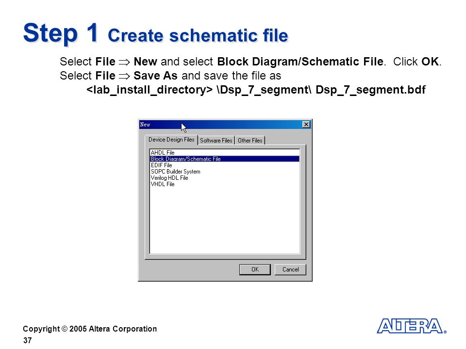 Step 1 Create schematic file